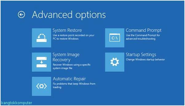 menu advanced options win 8