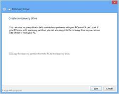 membuat bootable usb recovery drive