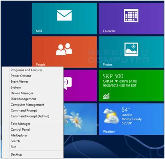 Power User Menu Win 8