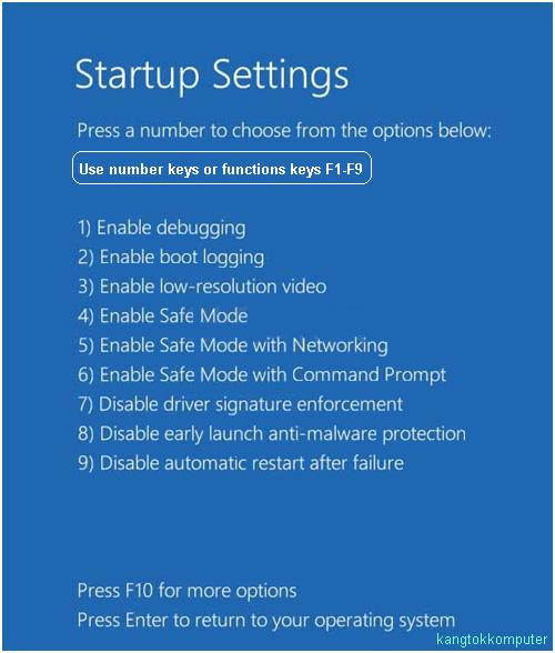 Startup-boot options-boot menu windows 8