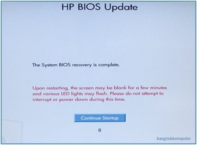 recover BIOS notebook HP