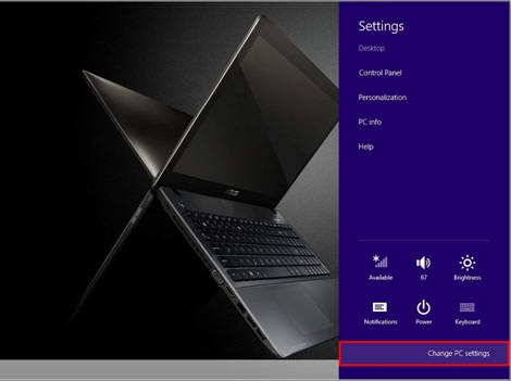 cara buka bios win 8